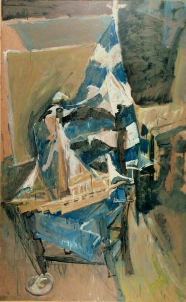 Aegean, 1988, oil on hardboard, 200x122cm