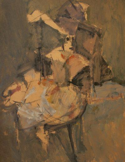 Agony, 1972, oil on hardboard, 153x122cm