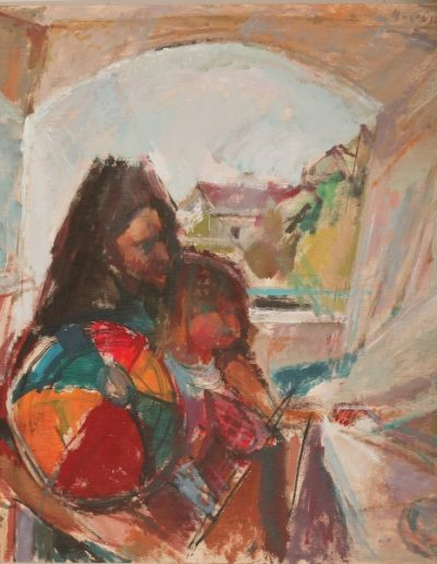 Amelia and her mother, 2004, oil on hardboard, 85x74cm