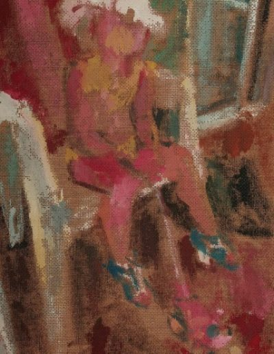 Amelia and her white hat, 2004, oil on hardboard, 33x24cm