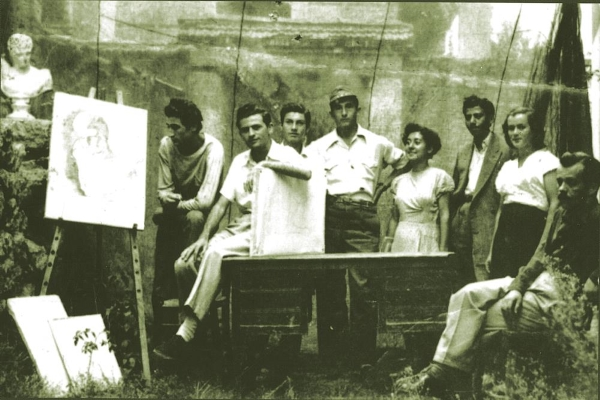Aristotle Fine Arts Association, Florina, 1952, pictured first on the left