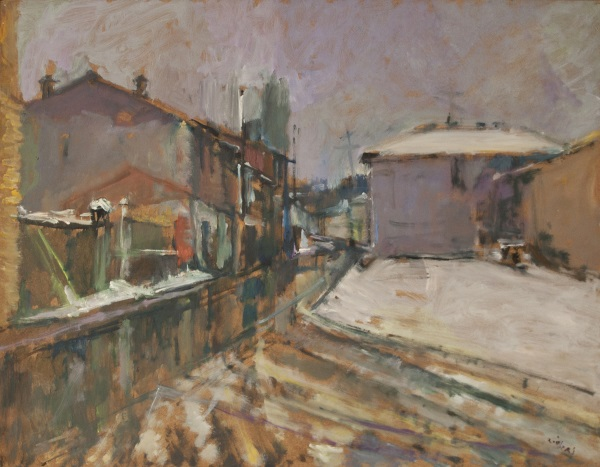 Florina, 1979, oil on hardboard 56x73cm