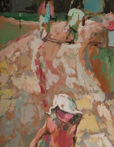 She forgot her bucket, 2004, oil on hardboard, 33x24cm