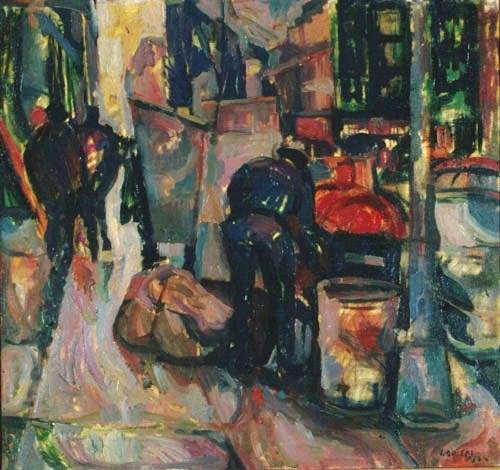 Street scene, Broadway, New York 1964, oil on canvas, 82x76cm, Teloglion Foundation of Art