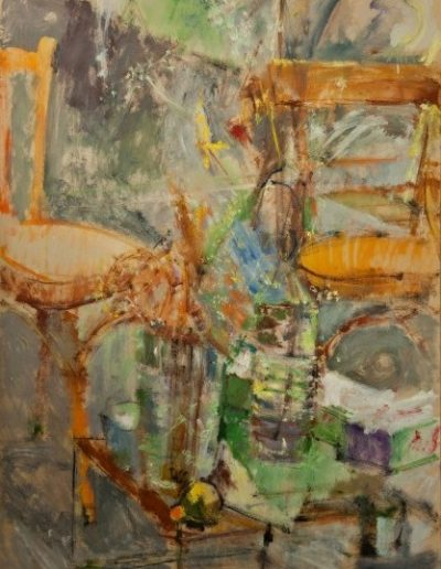 The two ladies, 1999, oil on cardboard, 100x70cm