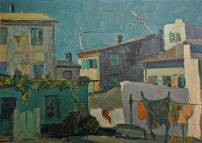 Corfu town, 1959, oil on canvas, 50x70cm, Corfu Art Gallery