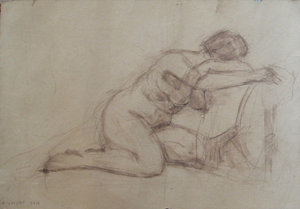Nude, 1954, pastel on paper, 33x45cm