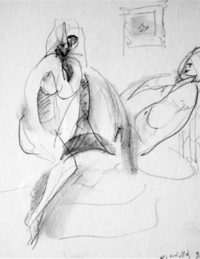 Nude, 1998, pencil on paper, 14x11cm