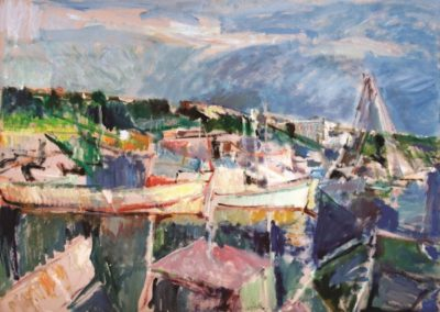 Aretsou bay, 1987, oil on cardboard, 75x105cm