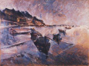 Seascape painting by Kostas Loustas