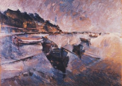 Aretsou bay, 1989, oil on hardboard, 122x163cm