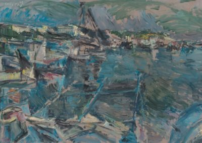 Aretsou bay, 1992, oil on hardboard, 84x123cm