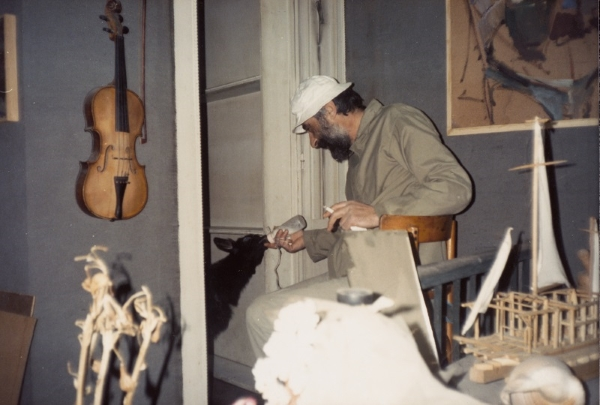 At the atelier in Leoforos Nikis 25 street, Thessaloniki, circa 1980