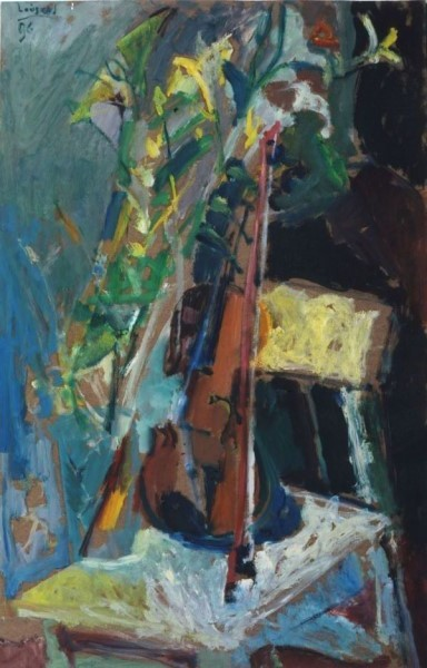 "Elgar, 1996, oil on panel, 85x55cm (33.4""x21.6"")"