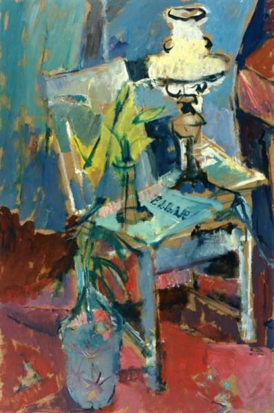 Elgar Collection, 1996, oil on hardboard, 86x45cm
