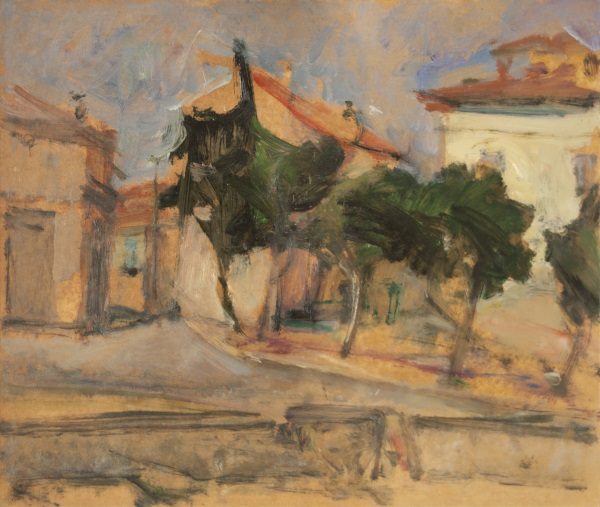 Florina, 1974, oil on hardboard, 52x61cm
