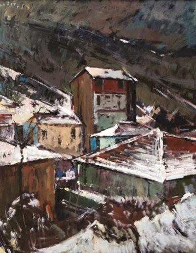 Florina, 1977, oil on hardboard, 60x48cm