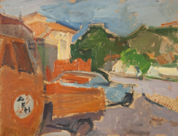 Florina, 1979, oil on hardboard, 33x43cm