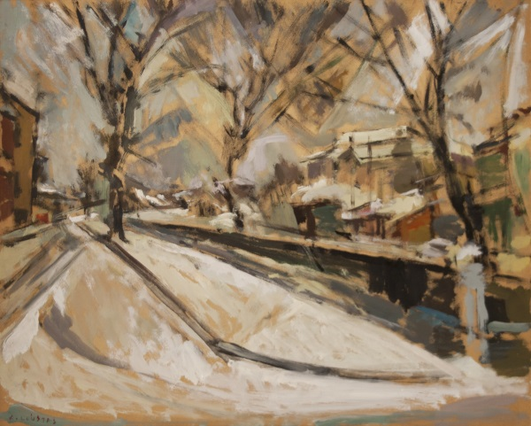 Florina, 1979, oil on hardboard, 52x65cm