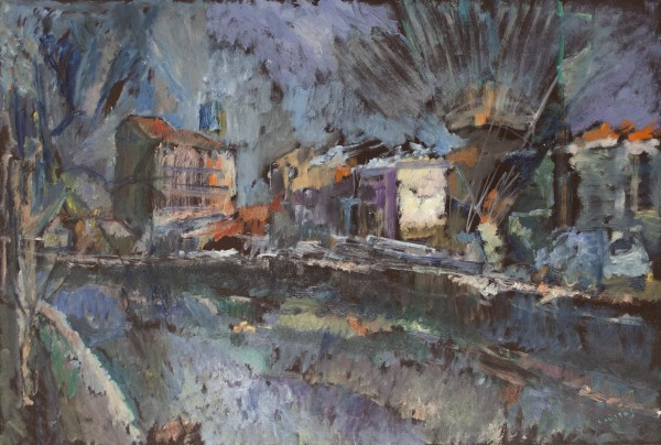 Florina, 1985, oil on hardboard,  65x96cm