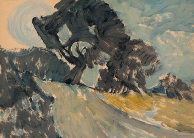 Kassandra Peninsula, 1974, oil on hardboard, 50x67cm