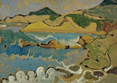 Olympiada beach, 1971, oil on hardboard, 45x61cm