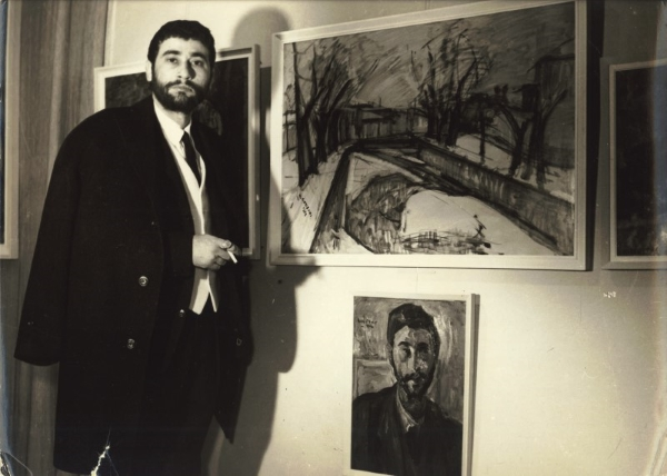 Solo exhibition at Gallery Techni, Thessaloniki, 1963