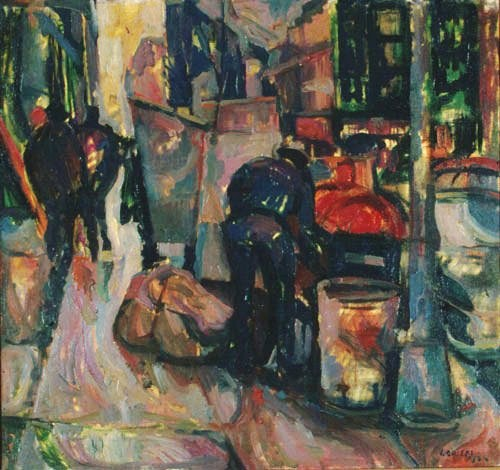 Street scene, Broadway, New York 1964, oil on canvas, 82x76cm, Teloglion Foundation of Art