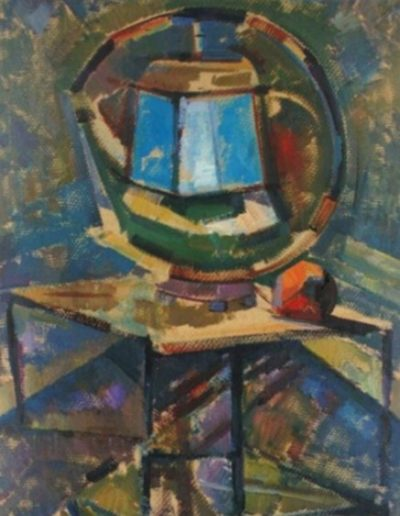 The blue lantern, 1966, oil on cardboard, 71x52cm, Teloglion Foundation of Arts