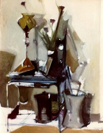 The chinese table, 1970, oil on hardboard, 140x110cm,