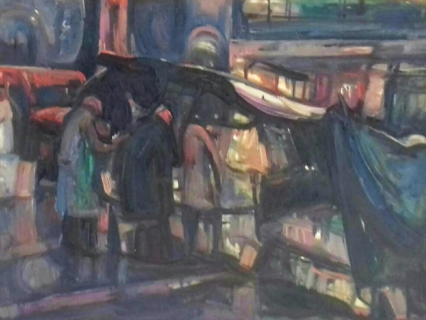 Broadway stand, New York 1964, oil on canvas, 49x60cm