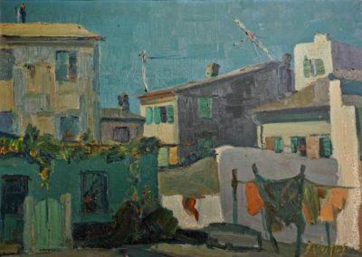 Corfu town, 1959, oil on canvas, 50x70cm, Corfu Art Gallery