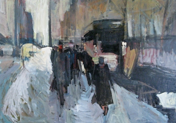 New York Avenue, New York 1964, oil on hardboard, 114x154cm