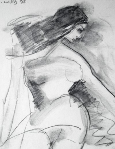 Nude, 1998, pencil on paper, 12x11cm
