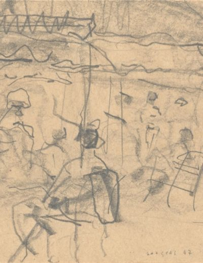 Summer, 1967, pencil on paper, 8x7cm