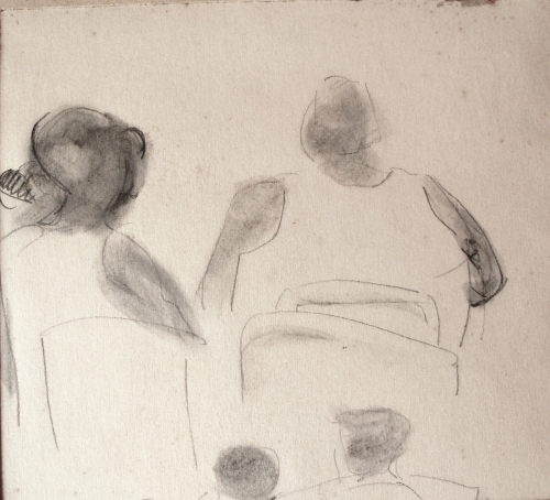 Summer, 1968, pencil on paper, 16x18cm
