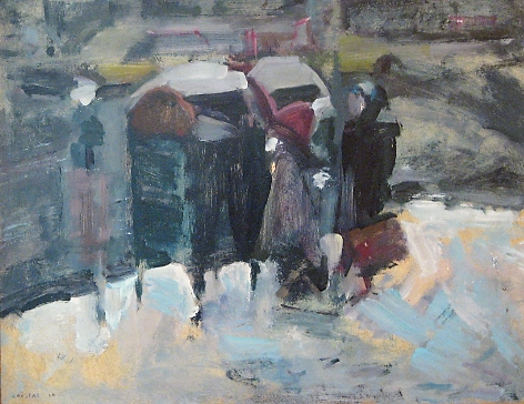 Winter in New York 1964, oil on hardboard, 63x76cm