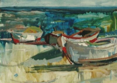 Aretsou bay, 1965, oil on hardboard, 60x49cm, Teloglion Foundation of Arts