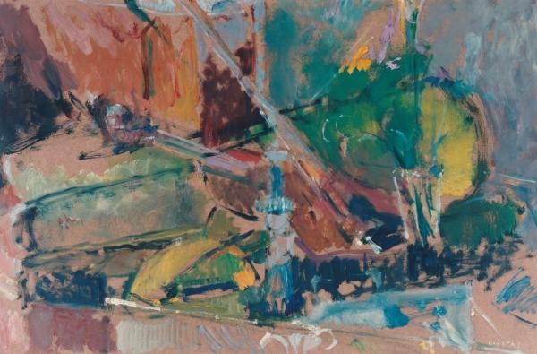 Elgar Collection, 1996, oil on hardboard, 54x84cm