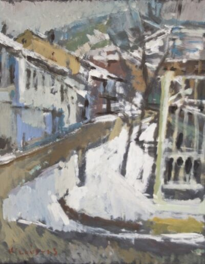 Florina, 1977, oil on hardboard, 35x28cm