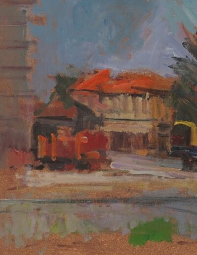 Florina, 1978, oil on hardboard, 40x34cm