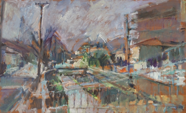 Florina, 1987, oil on hardboard, 56x93cm