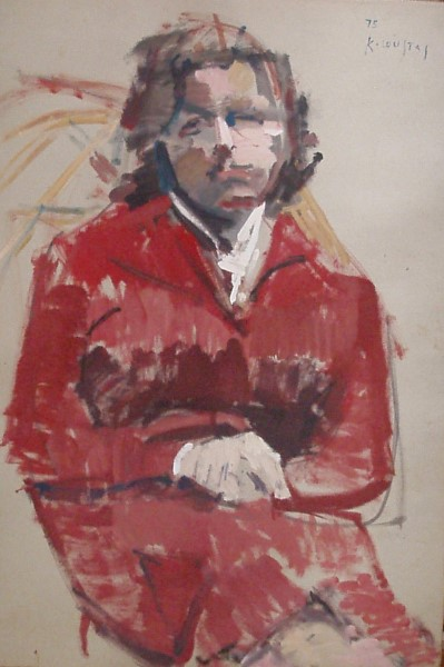 Unknown woman, 1975, oil on cardboard, 100x70cm
