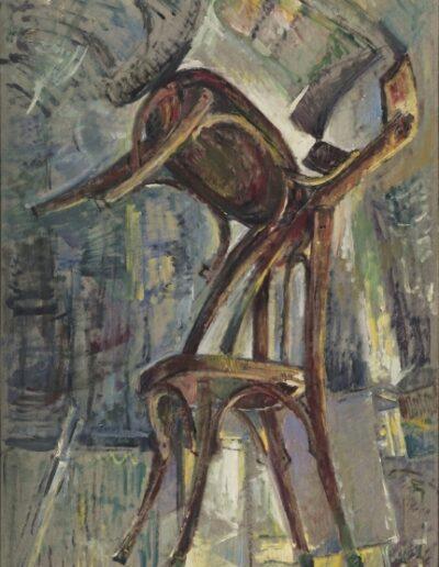 Untitled, 1999, oil on cardboard, 105x75cm