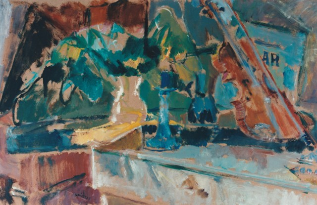 "Elgar, 1996, oil on panel, 55x86cm (21.6""x33.8"")"