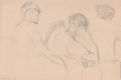 Figures, 1968, pencil on paper, 23.5x15.4cm