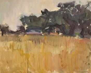 """Kassandra Peninsula, 1974, oil on panel, 49.5x67.5cm (19.4""""x26.5"""")"""