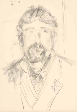 "Self-portrait, 1994, pencil on paper, 51x35cm (20""x13.7"")"