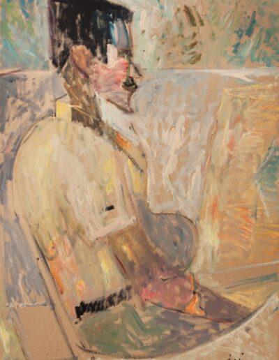 "Spithas, 1983, oil on panel, 70x50cm (27.5""x19.6"")"