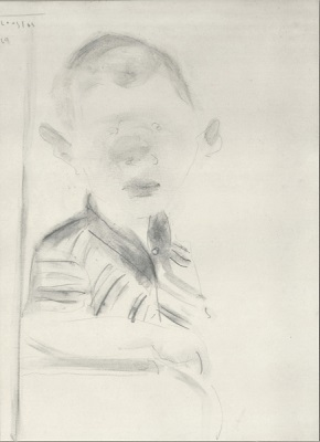 "The boy, 1969, pencil on paper, 27x20cm (10.6""x7.8"")"